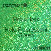 """12"""" x 12"""" Sheet - StarCraft Magic - Hoax Holo Fluorescent Green"""