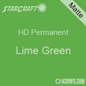 """12"""" x 24"""" Sheet - StarCraft HD Matte Permanent Vinyl - Lime Green"""