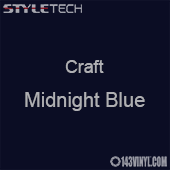 "Styletech Craft Vinyl - Midnight Blue- 12"" x 24"" Sheet"