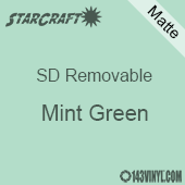"""12"""" x 10 Yard Roll  -StarCraft SD Removable Matte Adhesive - Mint Green"""