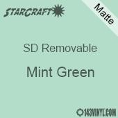 "12"" x 12"" Sheet -StarCraft SD Removable Matte Adhesive - Mint Green"