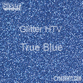 """Glitter HTV: 12"""" x 5 Yard Roll - True Blue"""