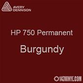 "Avery HP 750 - Burgundy- 12"" x 5 Foot"