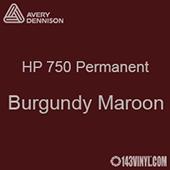 "Avery HP 750 - Burgundy Maroon- 12"" x 5 Foot"