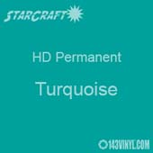 "12"" x 5' Roll - StarCraft HD Glossy Permanent Vinyl - Turquoise"