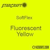 """12"""" x 5 Foot Roll -StarCraft SoftFlex HTV - Fluorescent Yellow"""