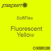 "12"" x 5 Yard Roll - StarCraft SoftFlex HTV - Fluorescent Yellow"