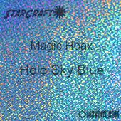 "12"" x 24"" Sheet - StarCraft Magic - Hoax Holo Sky Blue"