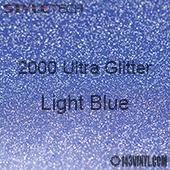 """StyleTech 2000 Ultra Glitter - 143 Light Blue - 12""""x24"""" Sheet"""