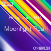 "12"" x 20"" Sheet Siser Holographic HTV - Moonlight Pearl"