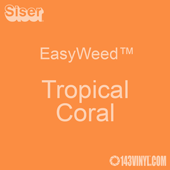 """EasyWeed HTV: 12"""" x 5 Foot - Tropical Coral"""