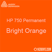 "Avery HP 750 - Bright Orange- 12"" x 24"" Sheet"