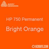 "Avery HP 750 - Bright Orange- 12"" x 5 Foot"