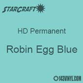 "12"" x 5' Roll - StarCraft HD Glossy Permanent Vinyl - Robin Egg Blue"