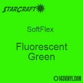 """12"""" x 5 Foot Roll -StarCraft SoftFlex HTV - Fluorescent Green"""