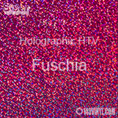 "12"" x 20"" Sheet Siser Holographic HTV - Fuchsia"