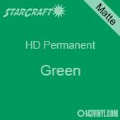 """12"""" x 5' Roll - StarCraft HD Matte Permanent Vinyl - Green"""