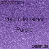 """StyleTech 2000 Ultra Glitter - 142 Purple - 12""""x12"""" Sheet"""