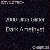 "StyleTech 2000 Ultra Glitter - 147 Dark Amethyst - 12""x24"" Sheet"