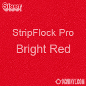 """12"""" x 15"""" Sheet Siser Stripflock Pro HTV - Bright Red"""