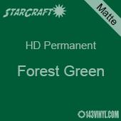 """12"""" x 24"""" Sheet - StarCraft HD Matte Permanent Vinyl - Forest Green"""
