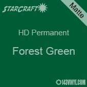 """12"""" x 5' Roll - StarCraft HD Matte Permanent Vinyl - Forest Green"""