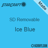 """12"""" x 10 Yard Roll  -StarCraft SD Removable Matte Adhesive - Ice Blue"""