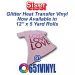 651Vinyl Has Released 5 Yard Glitter HTV Rolls in All Colors