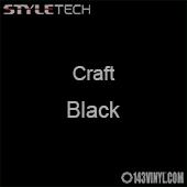 "Styletech Craft Vinyl - Black- 12"" x 24"" Sheet"