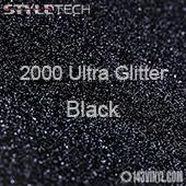"StyleTech 2000 Ultra Glitter - 128 Black - 12""x12"" Sheet"