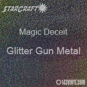 """12"""" x 24"""" Sheet - StarCraft Magic - Deceit Glitter Gun Metal"""