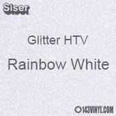 """Glitter HTV: 12"""" x 20"""" - Rainbow White"""