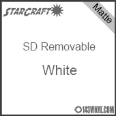 """12"""" x 10 Yard Roll  -StarCraft SD Removable Matte Adhesive -White"""