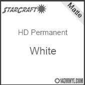 "12"" x 5' Roll - StarCraft HD Matte Permanent Vinyl - White"