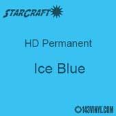 "12"" x 5' Roll - StarCraft HD Glossy Permanent Vinyl - Ice Blue"