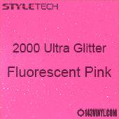 """StyleTech 2000 Ultra Glitter - 161 Fluorescent Pink - 12""""x24"""" Sheet"""