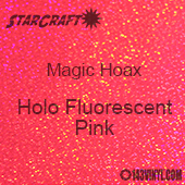"""12"""" x 24"""" Sheet - StarCraft Magic - Hoax Holo Fluorescent Pink"""