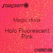 """12"""" x 12"""" Sheet - StarCraft Magic - Hoax Holo Fluorescent Pink"""