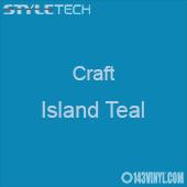 "Styletech Craft Vinyl - Island Teal- 12"" x 24"" Sheet"