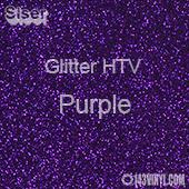 """Glitter HTV: 12"""" x 5 Yard Roll - Purple"""