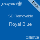 "12"" x 24"" Sheet -StarCraft SD Removable Matte Adhesive - Royal Blue"
