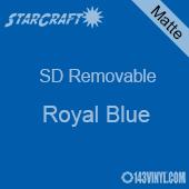 "12"" x 10 Yard Roll  -StarCraft SD Removable Matte Adhesive - Royal Blue"