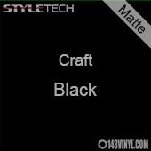 "Styletech Craft Vinyl - Matte Black- 12"" x 5 Foot"