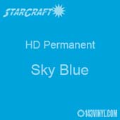 "12"" x 5' Roll - StarCraft HD Glossy Permanent Vinyl - Sky Blue"