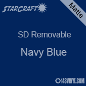 """12"""" x 10 Yard Roll  -StarCraft SD Removable Matte Adhesive - Navy Blue"""