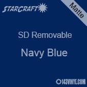 "12"" x 12"" Sheet -StarCraft SD Removable Matte Adhesive - Navy Blue"