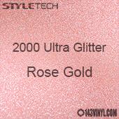 "StyleTech 2000 Ultra Glitter - 168 Rose Gold - 12"" x 12"" Sheet"