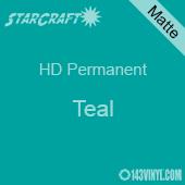 """12"""" x 5' Roll - StarCraft HD Matte Permanent Vinyl - Teal"""