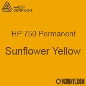 """Avery HP 750 - Sunflower Yellow- 12"""" x 5 Foot"""