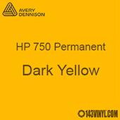"""Avery HP 750 - Dark Yellow- 12"""" x 5 Foot"""